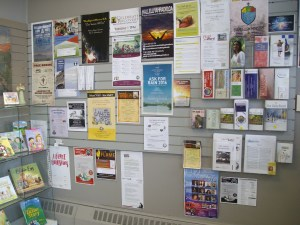 Community bulletin board at Pass the Word