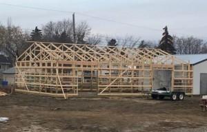 wood shop rebuild project
